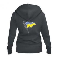 Женская толстовка на молнии Украинский флаг