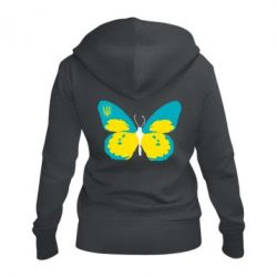 Жіноча толстовка на блискавці Український метелик