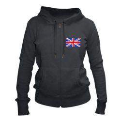 Женская толстовка на молнии Великобритания