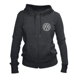 Жіноча толстовка на блискавці Логотип Volkswagen