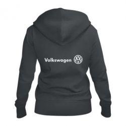 Женская толстовка на молнии Volkswagen Motors