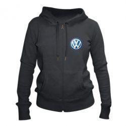 Жіноча толстовка на блискавці Volkswagen Small Logo