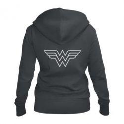 Женская толстовка на молнии Wonder Woman Logo