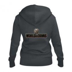 Жіноча толстовка на блискавці World Of Tanks Logo