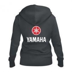 Женская толстовка на молнии Yamaha Logo(R+W)