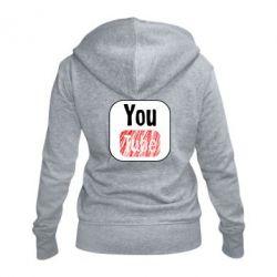 Жіноча толстовка на блискавці YouTube
