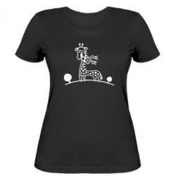 Жіноча футболка жираф - FatLine