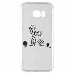 Чехол для Samsung S7 EDGE жираф