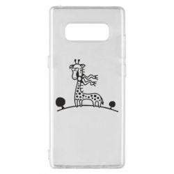 Чехол для Samsung Note 8 жираф