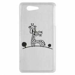 Чехол для Sony Xperia Z3 mini жираф - FatLine