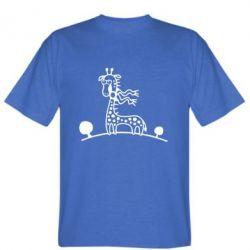 Мужская футболка жираф