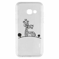 Чехол для Samsung A3 2017 жираф - FatLine