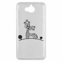 Чехол для Huawei Y5 2017 жираф - FatLine