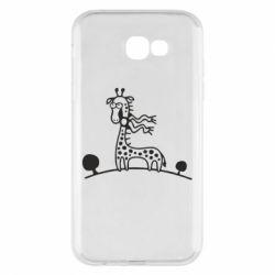 Чехол для Samsung A7 2017 жираф - FatLine