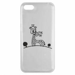 Чехол для Huawei Y5 2018 жираф - FatLine