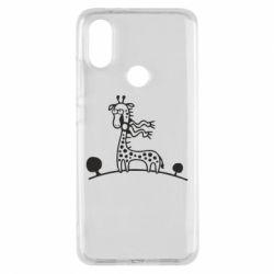 Чехол для Xiaomi Mi A2 жираф - FatLine