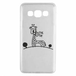 Чехол для Samsung A3 2015 жираф - FatLine