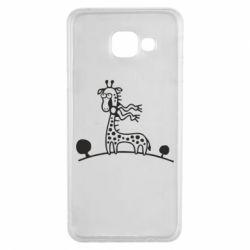 Чехол для Samsung A3 2016 жираф - FatLine