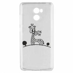 Чехол для Xiaomi Redmi 4 жираф - FatLine