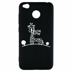 Чехол для Xiaomi Redmi 4x жираф