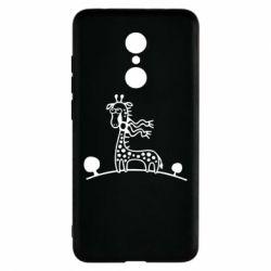 Чехол для Xiaomi Redmi 5 жираф - FatLine