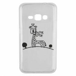 Чехол для Samsung J1 2016 жираф