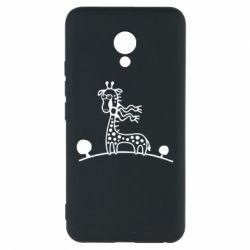 Чехол для Meizu M5 жираф - FatLine