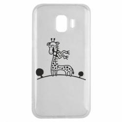 Чехол для Samsung J2 2018 жираф