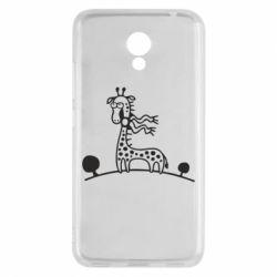Чехол для Meizu M5c жираф