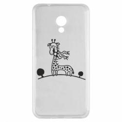 Чехол для Meizu M5s жираф - FatLine