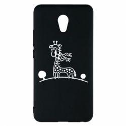 Чехол для Meizu M5 Note жираф - FatLine