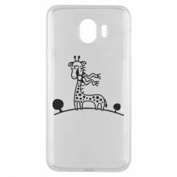 Чехол для Samsung J4 жираф - FatLine