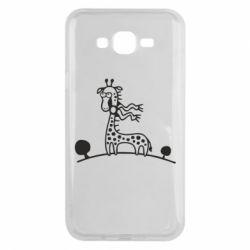 Чехол для Samsung J7 2015 жираф - FatLine
