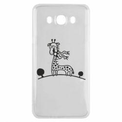 Чехол для Samsung J7 2016 жираф