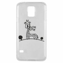 Чехол для Samsung S5 жираф - FatLine