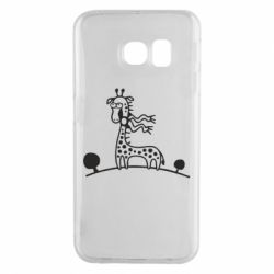 Чехол для Samsung S6 EDGE жираф - FatLine