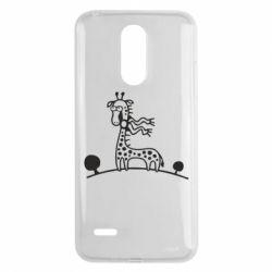 Чехол для LG K8 2017 жираф - FatLine