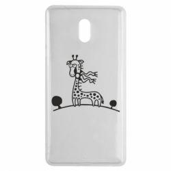 Чехол для Nokia 3 жираф - FatLine