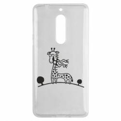Чехол для Nokia 5 жираф - FatLine