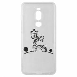 Чехол для Meizu Note 8 жираф - FatLine