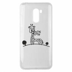 Чехол для Xiaomi Pocophone F1 жираф - FatLine