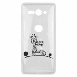 Чехол для Sony Xperia XZ2 Compact жираф - FatLine