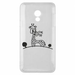 Чехол для Meizu 15 Lite жираф - FatLine