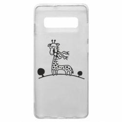 Чехол для Samsung S10+ жираф