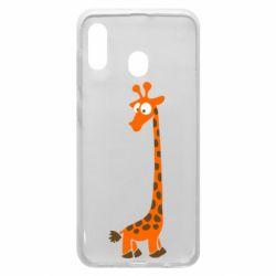 Чехол для Samsung A20 Жираф