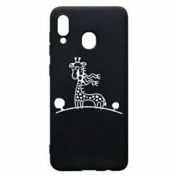 Чехол для Samsung A30 жираф