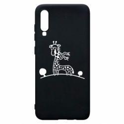Чехол для Samsung A70 жираф