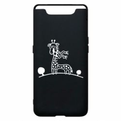 Чехол для Samsung A80 жираф