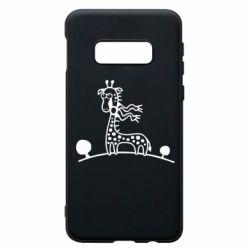 Чехол для Samsung S10e жираф