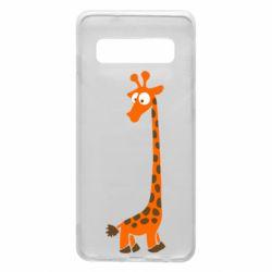 Чехол для Samsung S10 Жираф